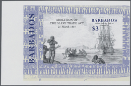 Barbados: 2007, Bicentenary Of Abolition Of The Slave Trade Act Complete Set Of Four In Vertical Or - Barbados (1966-...)