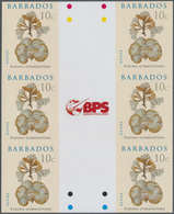 Barbados: 2008. IMPERFORATE Vertical Gutter Block Of 3 Horizontal Pairs For The 10c Value Of The ALG - Barbados (1966-...)