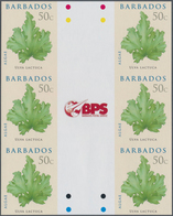 Barbados: 2008. IMPERFORATE Vertical Gutter Block Of 3 Horizontal Pairs For The 50c Value Of The ALG - Barbados (1966-...)