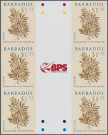 Barbados: 2008. IMPERFORATE Vertical Gutter Block Of 3 Horizontal Pairs For The $1.75 Value Of The A - Barbados (1966-...)
