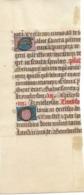 Fragment De Page De Manuscrit 14-15e Avec Lettrines Dorées - Manuscritos