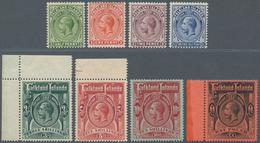 Falklandinseln: 1912/1914, KGV Definitives Part Set Of Eight Incl. ½d. To 2½d. And The Four High Den - Falkland Islands
