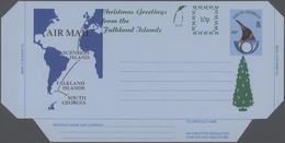 "Falklandinseln: 1994, South Georgia Airletter 30 P. Uprated Green Surcharge ""10 P./Christmas Greetin - Falkland Islands"