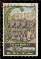 Old Poster Stamp Cinderella Reklamemarke Erinnofili Vignette Scout Erkunden Ausmarsch. - Scouting