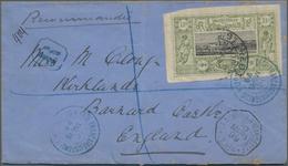 """Französische Somaliküste: 1899, Definitives """"Views Of Djibouti"""" 1fr. Olive/black, Single Franking On - Côte Française Des Somalis (1894-1967)"""