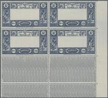 Französische Somaliküste: 1938, View Of Djibouti Definitive 10fr. Dark Blue/(greenish Blue) With MIS - Côte Française Des Somalis (1894-1967)