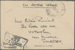 Kokos-Inseln: 1945 (22nd April): Stampless 'Active Service' Cover + Full Contents From A Soldier Ser - Kokosinseln (Keeling Islands)
