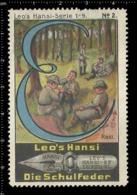 Old Poster Stamp Cinderella Reklamemarke Erinnofili Vignette Scout Erkunden Rast Rest. - Scoutismo