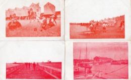 99Av   Belgique Ostende Lot De 4 Cpa (rare Serie Rouge) - Oostende