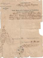 Certificat D'origine Française Délivré Par Le Maire De Pondichéry, 29/5/1919 - Historical Documents