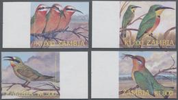 Sambia: 2003, Definitive Issue 'birds' (Merops Bullockoides, Merops Pusillus, Merops Persicus And Me - Zambia (1965-...)
