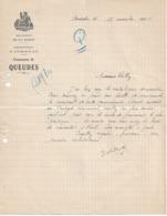 Lettre Du Maire De Queudes (51), 17/11/1935 - Historical Documents