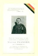 Doodsprentje Victor Plumier- Lamontzée  / La Nacelle - Gesneuvelde / Soldaat WO1 WW1 - Todesanzeige