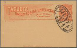 Uruguay - Ganzsachen: 1892, Two Stationery Cards: 2 C Orange On Buff And 2 C Green On Greenish Both - Uruguay