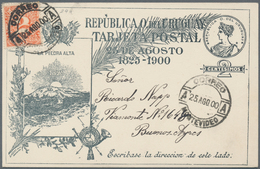 Uruguay - Ganzsachen: 1900, Two Stationery Cards: Independance Of Uruguay 2 C Bllack On Creme, Both - Uruguay