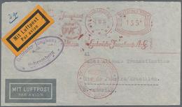 Flugpost Deutschland: 1934, 155 Pfg. Firmenfreistempel Junghans Uhren, Schramberg, 2.10.34 Auf Lp-Br - Luftpost