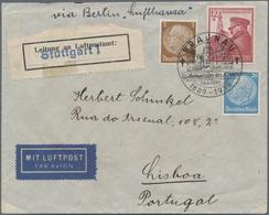 Flugpost Deutschland: 1939, Führers Geburtstag Mit Zus.-Frankatur Hindenburg Als 35 Pfg. Flugpostbri - Luftpost