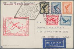 DO-X - Flugpost: 1931, 1.Übersee-Flug Europa-Amerika: Dt.Reich, Buntfrankatur 10 Pf, 2 X 20 Pf, 50 P - Luftpost