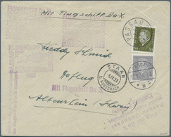 DO-X - Flugpost: 1933, DO-X EUROPAFLÜGE PASSAU-BUDAPEST, Urprünglich Frankiert Mit 20 Pfg. Ebert Ent - Luftpost