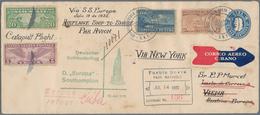 Katapult- / Schleuderflugpost: 1932, Cuba, 5 C Blue Postal Stationery Envelope, Uprated With 8 C Bro - Luftpost