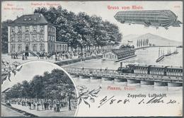 Zeppelinpost Deutschland: 1908, LZ 4, Drei Dekorative Ansichtskarten In Sauberer Erhaltung, Alle Im - Luftpost