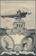 Zeppelinpost Deutschland: 1909, LZ 5 FERNFAHRT 2., 3., 5.8. Friedrichshafen - Cöln: In Coblenz Zeige - Luftpost