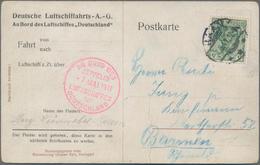 Zeppelinpost Deutschland: 1911, Luftschiff Deutschland LZ 8, Fahrt Blumentag Düsseldorf, Delag Postk - Luftpost