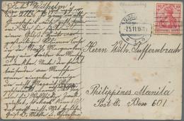 Zeppelinpost Deutschland: 1911, Abwurfkarte Mit Spuren, Düsseldorf 7.5.1911 (=Blumentag) Mit Ereigni - Luftpost