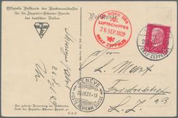 Zeppelinpost Deutschland: 1929. German Zeppelin-Eckener Spende Donation Postcard Flown On The Graf Z - Luftpost