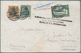 Zeppelinpost Deutschland: 1919, Bodensee Wegen Zu Starken Windes Ausgefallene Fahrt. Brief Adressier - Luftpost