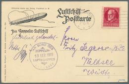 Zeppelinpost Deutschland: 1919, Luftschiff Bodensee Mit Bordpoststempel Vom 18.SEP., Fahrt Friedrich - Luftpost