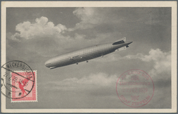 Zeppelinpost Deutschland: 1929. Zeppelin Picture Postcard Flown On The Graf Zeppelin LZ127 Airship's - Luftpost