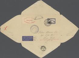 Zeppelinpost Deutschland: 1929, Orientfahrt Und Versuchte Amerikafahrt, DOPPELT Verwendeter Umschlag - Luftpost