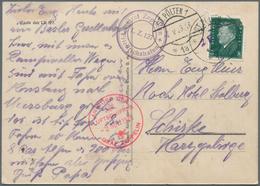 Zeppelinpost Deutschland: 1929, Abwurf St. Pölten, Postkarte Mit Abbildung Des LT 127 Frankiert Mit - Luftpost