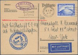 Zeppelinpost Deutschland: 1929, VERSUCHTE AMERIKAFAHRT, Karte Ab Friedrichshafen 15.5. Mit Dem Selte - Luftpost