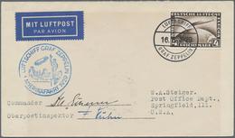 Zeppelinpost Deutschland: 1929, VERSUCHTE AMERIKAFAHRT, Bordpostbrief OHNE Verzögerungsstempel, Mit - Luftpost