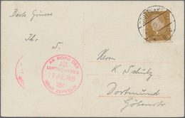 Zeppelinpost Deutschland: 1929. Real Photo Postcard (RPPC) Showing The Graf Zeppelin Airship Flying - Luftpost