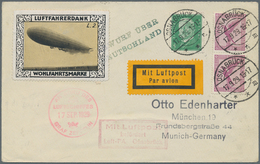Zeppelinpost Deutschland: 1929. German Cover Flown On The Graf Zeppelin LZ127 Airship's 1929 Deutsch - Luftpost