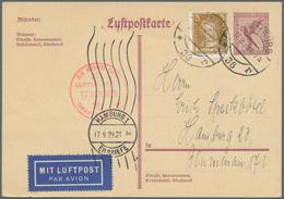 Zeppelinpost Deutschland: 1929. German Upfranked Luftpost Ganzsache / Airmail Postal Stationery Card - Luftpost