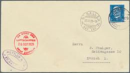 Zeppelinpost Deutschland: 1929, SCHWEIZERFAHRT (1.)/Abwurf ST.GALLEN: Bordpostbrief Mit Deutscher Fr - Luftpost