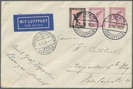 Zeppelinpost Deutschland: 1929, Si. 39a LZ 127/4. SCHWEIZERFAHRT: Abwurfbrief ZÜRICH-BAHNPOSTEN...(S - Luftpost