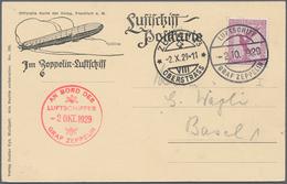 """Zeppelinpost Deutschland: 1929, LZ 127/4.SCHWEIZFAHRT/Abwurf """"ZÜRICH 13 OBERSTRASS 2.X.29-11"""": Lufts - Luftpost"""