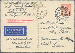 Zeppelinpost Deutschland: 1929, SPANIENFAHRT Zur Weltausstellung: Bordpostkarte 23.10.29 (Type II), - Luftpost