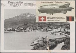 Zeppelinpost Deutschland: 1929. Trip To Zürich-Dübendorf, G.P.O., Dropping Winterthur (only 86 Cover - Luftpost