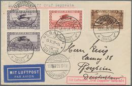 Zeppelinpost Deutschland: 1929, SAAR / 50.FAHRT / Abwurf ST.GALLEN: Brief Mit Stempelfehler FHFN Okt - Luftpost