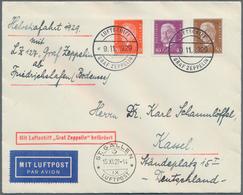 Zeppelinpost Deutschland: 1929: LZ 127/50. Fahrt: Bordpost Luxusbrief 9.11.29. Irrtümlich In Frankfu - Luftpost