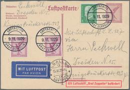 Zeppelinpost Deutschland: 1929, LZ 127 Fahrt Ins Bodenseegebiet. Ganzsachenkarte Mit Zusatzfrankatur - Luftpost