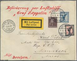 Zeppelinpost Deutschland: 1930, ZEPPELIN SCHWEIZFAHRT Vom 12.4. Mit Bordstempel Via Bern An Fremdenl - Luftpost