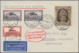 Zeppelinpost Deutschland: 1930, SAAR / SCHWEIZFAHRT: Vertragsstaatenbrief Ab Saarbrücken 5.5.30 (Fah - Luftpost