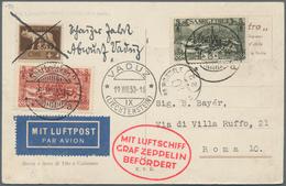 Zeppelinpost Deutschland: 1930, Saar/Vaduzfahrt: Saarbrücken 2-Aufgabe, Beidseitig Mit Saarmarken Un - Luftpost